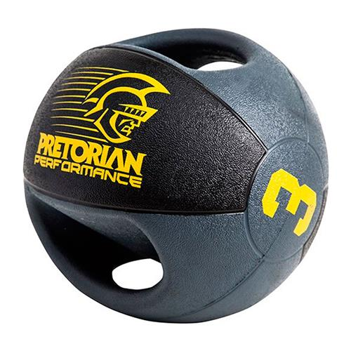 Medicine Ball Com 02 Pegadas 3Kg  Pretorian Performance