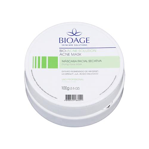 Máscara Facial Secativa Acne Mask - 100G Bio-Acne Solution - Bioage