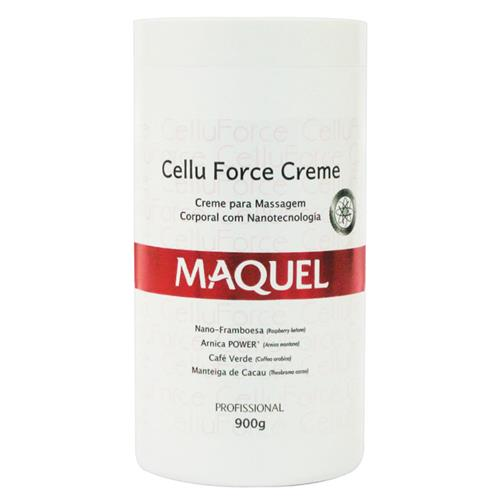 Creme De Massagem Corporal Maquel C/ Nanotecnologia 900G - Cellu Force