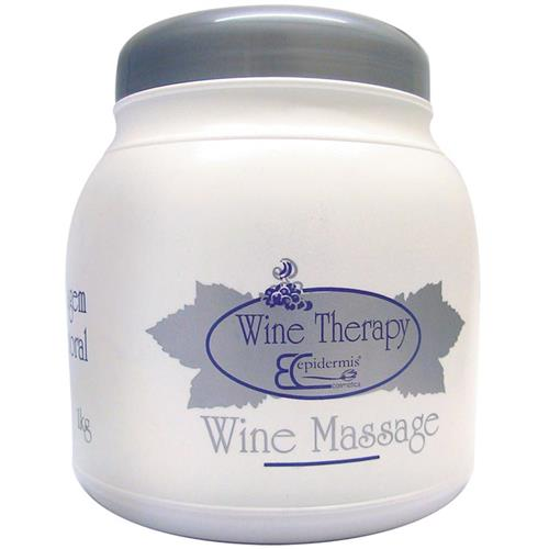 Creme Massagem Corporal Epidermis - Wine Massage, Gourmeterapia 1Kg