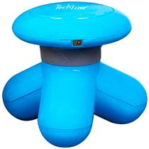 Mini Massageador Corporal Techline Ms-1000 AZUL