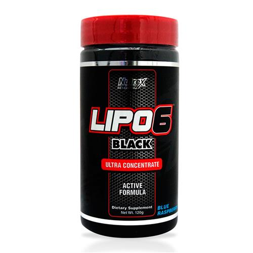 Lipo 6 Black Powder Blue Raspberry - 120G - Nutrex