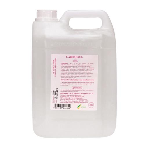 Gel Condutor 5Kg Para Ultrassom E Correntes Incolor - Carbogel