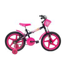 Bicicleta Infantil Feminina Aro 16 Fofys - Verden Bikes PRETO/ROSA
