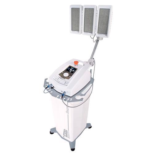 Hygialux Aparelho de Fototerapia em Led e Laser com Braço e Rack - Com Painel Tricolor Azul, Vermelho e Infravermelho - Kld