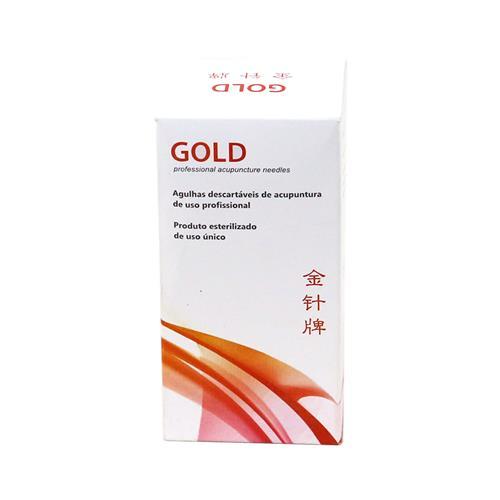 Agulha Para Acupuntura Sistêmica - Caixa Com 100 Un - Gold