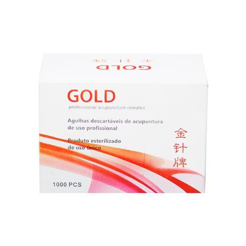 Agulha Para Acupuntura Sistêmica - Caixa Com 1000 Un - Gold