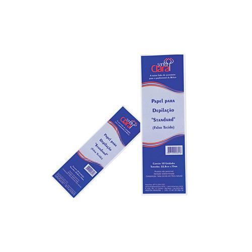 Papel Para Depilação Falso Tecido Standard C/ 10 Un - Santa Clara
