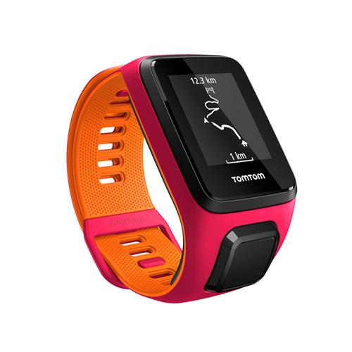 Relógio Fitness Runner 3 Com Gps, À Prova D`Água E Bluetooth Rosa/Laranja - Tomtom