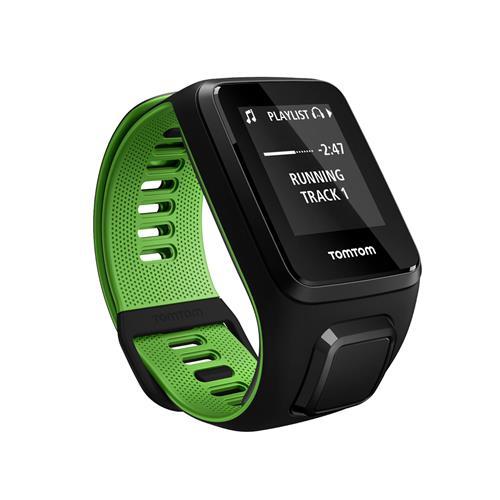 Relógio Fitness Runner 3 Cardio Music - C/ Gps, À Prova D`Água, 3Gb, Bluetooth Preto E Verde - Tomtom
