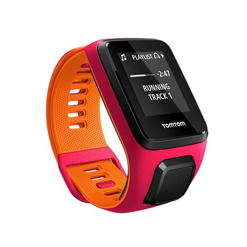 Relógio Fitness Runner 3 Cardio Music - C/ Gps, À Prova D`Água, 3Gb, Bluetooth Rosa E Laranja - Tomtom