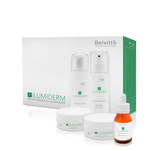 Kit Peeling Sequencial Iluminador Ilumiderm Profissional - Belvittà