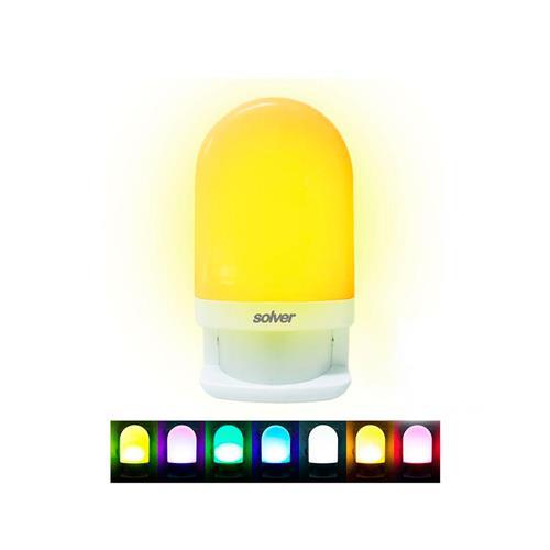 Luz Noturna Colorida Programável Com Sensor Slm-201 - Solver