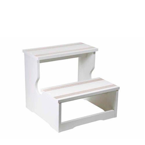 Escada Auxiliar Com 02 Degraus De Madeira Para Maca, Clínicas E Hospitais - Shopfisio