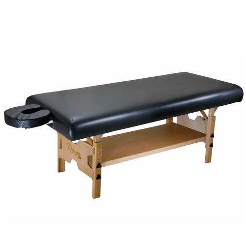 Maca De Massagem Fixa Com Altura Regulável, Prateleira Inferior E Orifício Spa Premium - Shopfisio