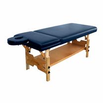 Maca De Massagem Fixa Reclinável Com Altura Regulável, Prateleira Inferior Spa Premium Reclinável - Shopfisio AZUL NOTURNO