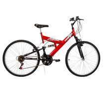 Bicicleta Masculina Aro 26 Com 18 Marchas Radikale - Verden Bikes VERMELHO