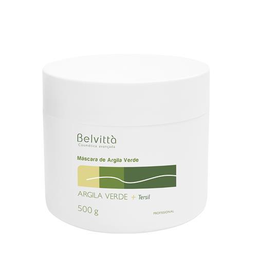 Máscara De Argila Verde - Ação Detoxificante E Purificante 500G - Belvittà