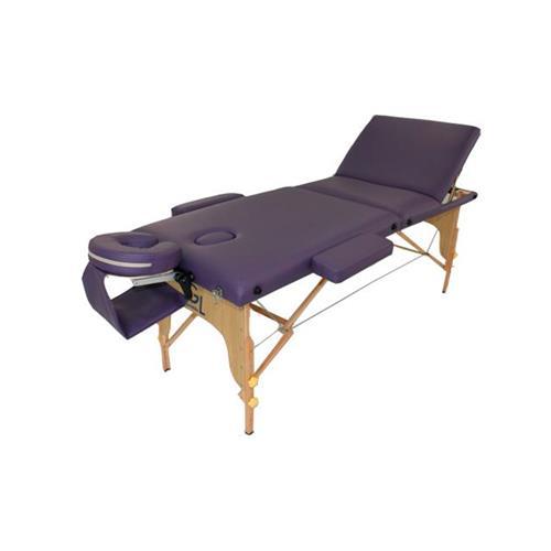 Maca De Massagem Portátil Reclinável Com Altura Regulável, Apoio Para Braços E Orifício Premium - Goldlife