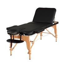 Maca De Massagem Portátil Reclinável Com Altura Regulável E Bolsa Para Transporte Premium Junior - Goldlife PRETO