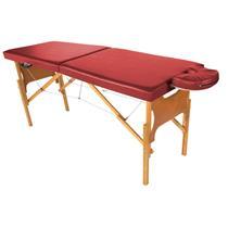 Maca De Massagem Portátil Com Altura Regulável E Orifício Para Fisioterapia E Estética - Shopfisio VERMELHO