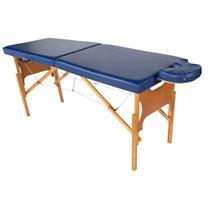 Maca De Massagem Portátil Com Altura Regulável E Orifício Para Fisioterapia E Estética - Shopfisio AZUL NOTURNO