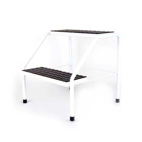 Escada Auxiliar Metal - 2 Degraus Para Maca, Clínicas E Hospitais - Shopfisio