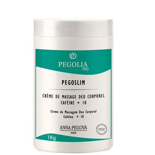Creme De Massagem Pegoslim Deo Corporal Cafeína + 10 - 1Kg - Pegolia Pro