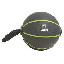 Medicine Ball 4Kg Com Corda Para Treinamento Funcional - Liveup