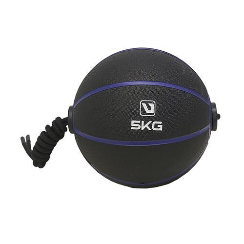 Medicine Ball 5Kg Com Corda Para Treinamento Funcional - Liveup