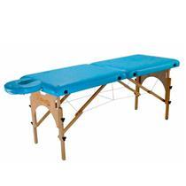 Maca De Massagem Portátil Com Altura Regulável E Orifício Para Fisioterapia E Estética Premium - Shopfisio AZUL CÉU