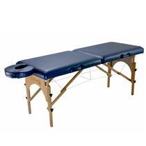 Maca De Massagem Portátil Com Altura Regulável E Orifício Para Fisioterapia E Estética Premium - Shopfisio AZUL NOTURNO