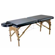 Maca De Massagem Portátil Com Altura Regulável E Orifício Para Fisioterapia E Estética Premium - Shopfisio PRETO