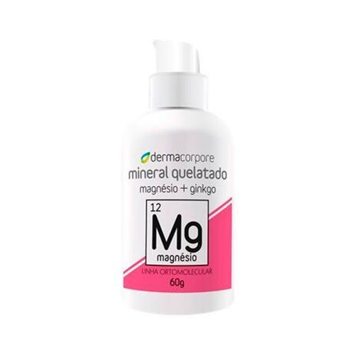 Magnésio Quelato E Ginkgo Para Absorção De Cálcio E Potássio 60 G - Dermacorpore