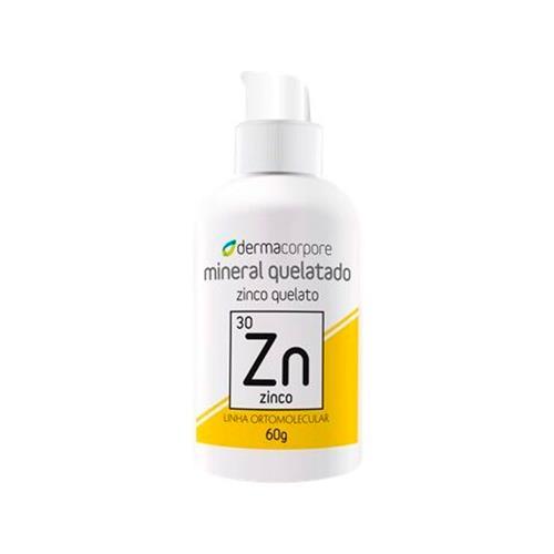 Zinco Mineral Quelatado Para Síntese Do Colágeno 60 G - Dermacorpore