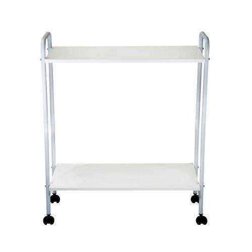 Mesa Carrinho Auxiliar Com 2 Prateleiras Para Aparelhos De Fisioterapia E Estética - 36X80x92 Cm - Shopfisio
