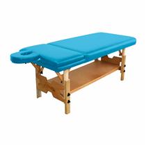 Maca De Massagem Fixa Reclinável Com Altura Regulável, Prateleira Inferior Spa Premium Reclinável - Shopfisio AZUL CÉU