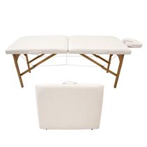 Maca De Massagem Portátil Com Altura Fixa E Orifício Para Fisioterapia E Estética Maleta Madeira - Shopfisio