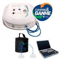 Vacuodermo Gabinete Fismatek Aparelho de Vacuoterapia GANHE Caneta Diamantada c/ 5 Ponteiras e Ventosa Pump